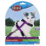 Trixie Kitten Harness with Leash (colour assorted)