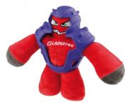 Gigwi Gladiator Squeaker Inside Plush/TPR Dog Toy - Red