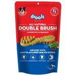 Drools Double Brush Dental Treat Mint Flavour Breath Strips For Large Breed Dogs