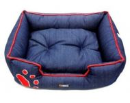 Kennel Denim Paw Print Sofa Bed