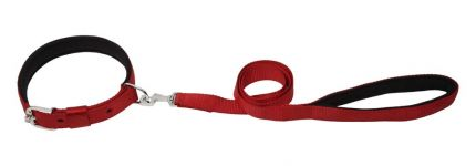 Kennel Padded Nylon Collar & Padded Nylon Lead (W = 1 1/4)