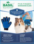 Basil Five Finger Deshedding Glove
