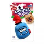 Gigwi Monster Rope Squeaker Plush Rope Dog Toy (Blue)