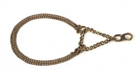 Kennel Brass Double Semi Choke Chain (L = 12- 16
