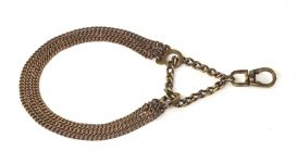 Kennel Brass Triple Semi Choke Chain (L = 14