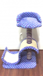 Cat tree S Shape Scratch Board Tunnel With Seat