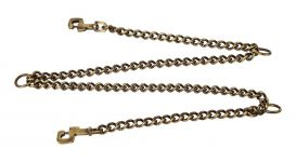 Kennel Coupling Chain Brass Medium Thick (T = 3mm)