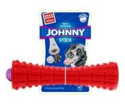 Gigwi Johnny Stick Treats Dispenser Durable TRP Solid Dog - Red