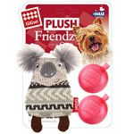 Gigwi Plush Friendz Squeaky Refillable Koala - Dog Toy
