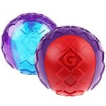 Gigwi Squeaker Solid Ball - Red/Purple