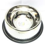 Kennel Premium Steel Feeding Bowl (Large)