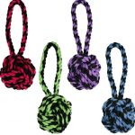 Smarty Pet Rope Toy Ball With Tug