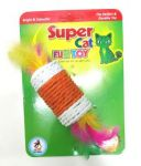 Super Cat Fun Toy Cylindrical Shape Scratchers - Feather