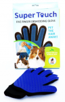 Super Touch Five Finger Deshedding Glove For Dog & Cat