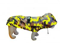 Kennel Printed Color Raincoat - Yellow