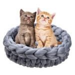 Nutan Woolen Basket Bed For Dogs & Cats